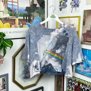 Pink Floyd Distressed Cropped T-Shirt